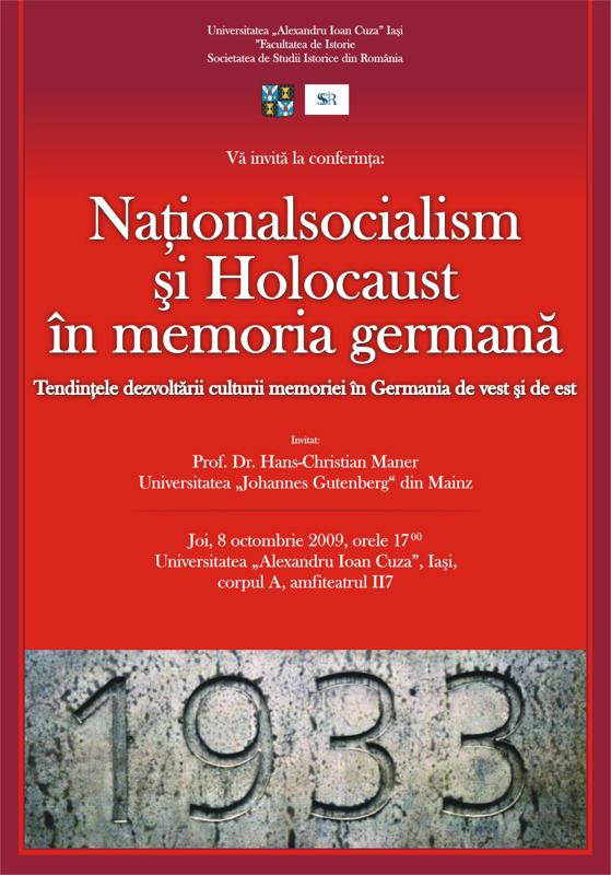 Lecture Nationalsocialism and Holocaust in German Memory. Tendencies in the Development of the Culture of Memory in Western and Eastern Germany