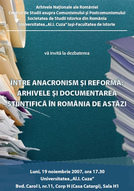 Debate Between Anachronism and Reform: Archives and Scientific Documentation in Romania Today