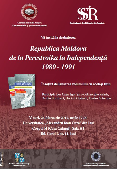 Debate Republic of Moldavia Since Perestroika to Independence, 1989-1991