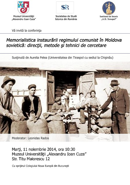Lecture Memoirs about Installation of Communist Regime in Soviet Moldavia: Research Directions, Methods and Techniques